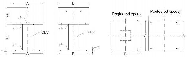 podstavek s plocevino-Model